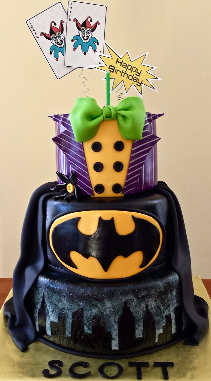 Batman and Joker Cake