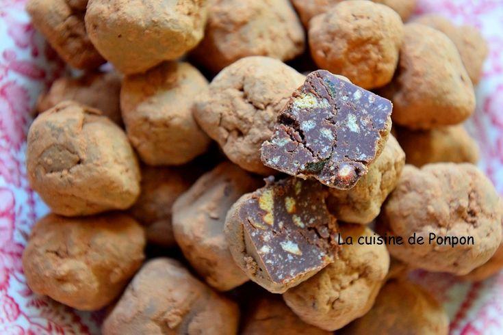 Truffe+au+chocolat+et+aux+pépites+d'abricot