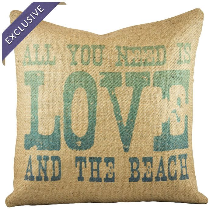 Love & the Beach Pillow - By the Beach on Joss & Main