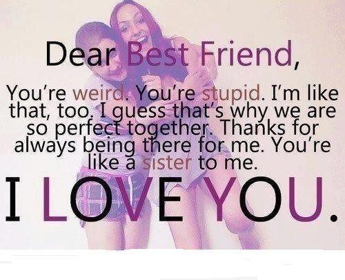 Dear best friend..