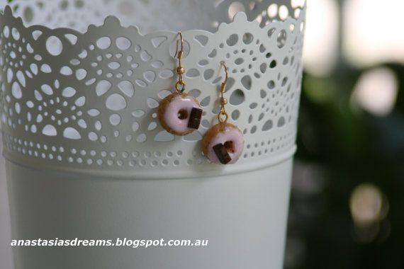 Earrings Doughnut Earrings Miniature Food by AnastasiasDreams