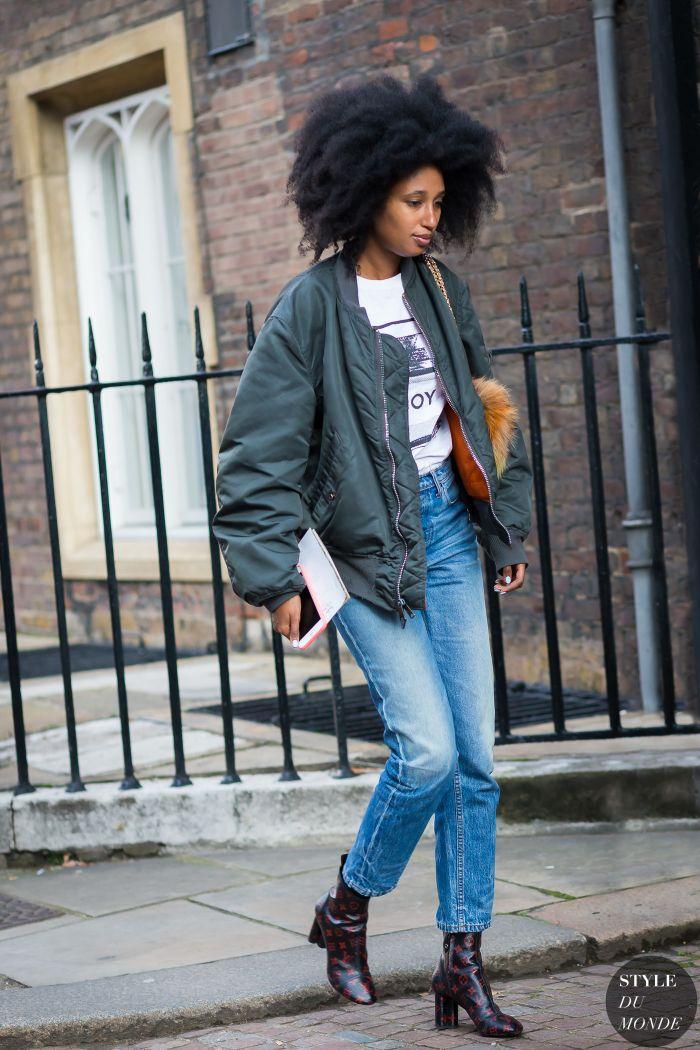 London Fashion Week SS 2016 Street Style: Julia Sarr-Jamois - STYLE DU MONDE | Street Style Street Fashion Photos