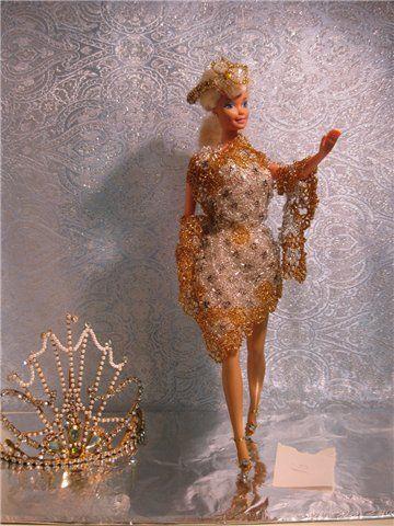 Мастер-класс:Одежда для кукол. Шьем костюм русалки для куклы Барби
