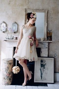 old fashioned wedding gown