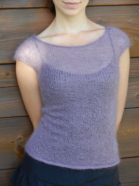 Ravelry: Project Gallery for Mohair minimalist top pattern by Anna Kuduja