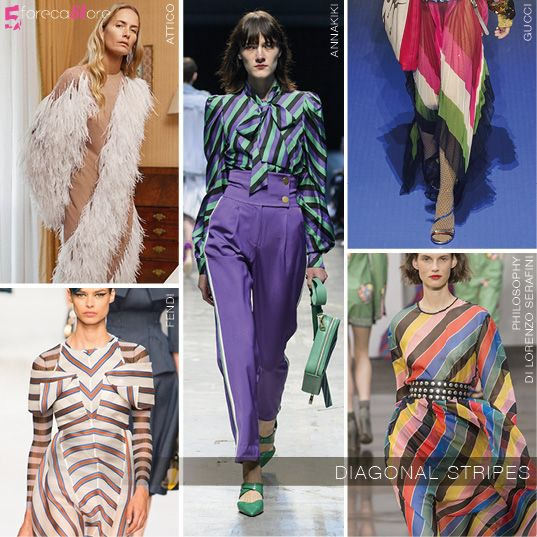 BIAS and DIAGONAL STRIPES at MILAN SS18 @5forecastore trend report