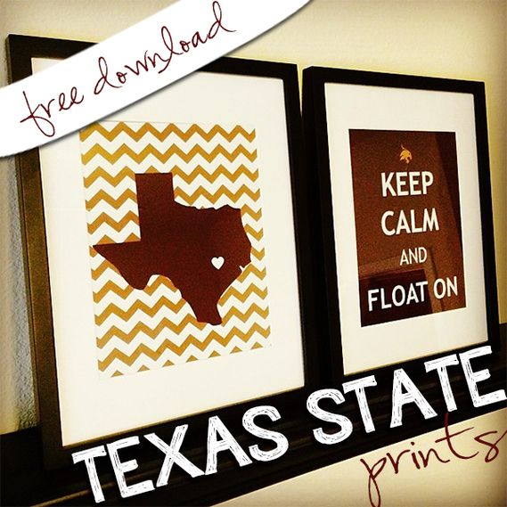 Texas State University Prints! I love having crafty friends! Thanks Jill :)