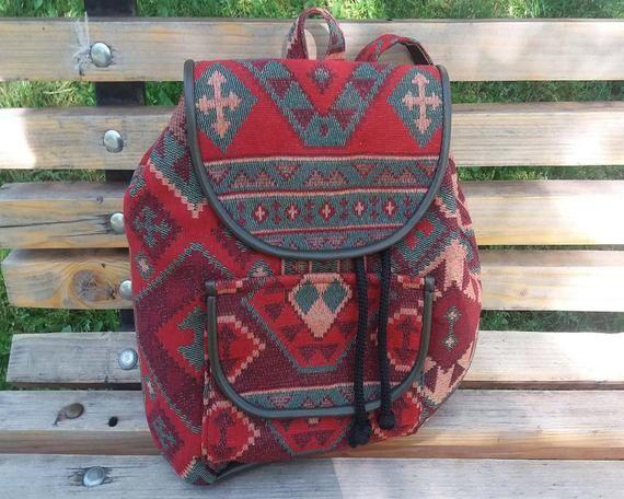 Handmade Backpack Bag Armenian Backpack Ethnic Bag