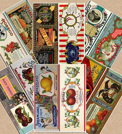 Free vintage fruit can labels and some vintage inspired labels too! from ALTERED ARTIFACTS