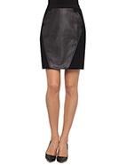 Sabatini Paneled Skirt  #davidjones #sabatini #leather #skirt #designer #fashion #style #chic @SABATINI