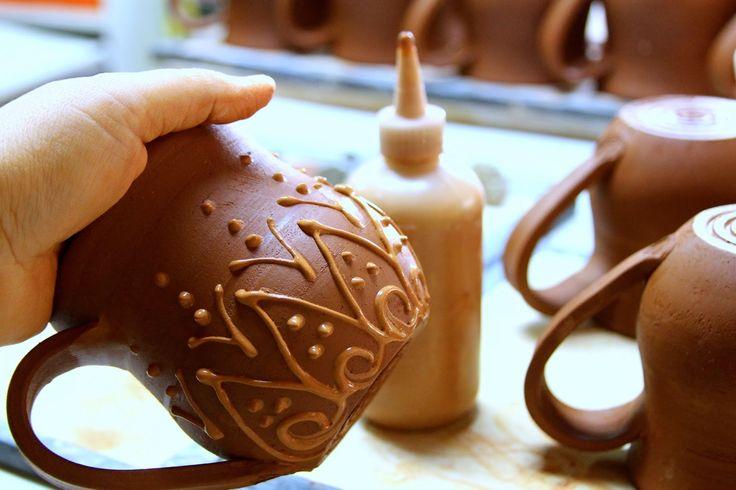 Back Bay Pottery: Take a Look Inside My Studio - Slip Trailing