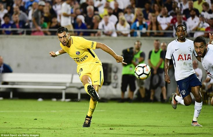 Javier Pastore curled home from 15 yards out nine minutes before half-time to make the score 2-2
