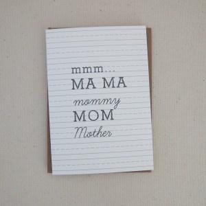 Mmmmm...Mother's Day card idea
