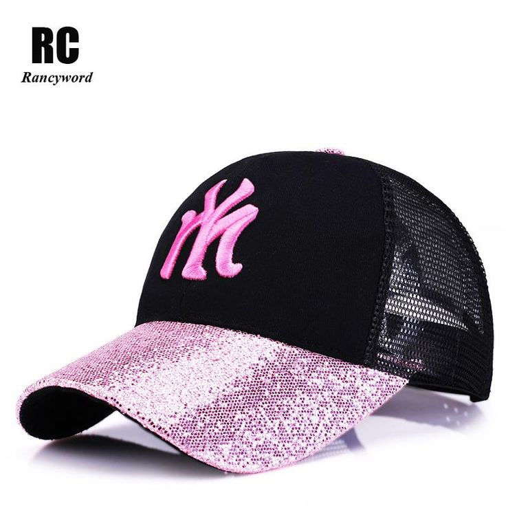 [Rancyword] 2017 New Branded Baseball Caps Canada Women's Cap With Mesh Bone Hip Hop Lady Embroidery Hats Sequins RC1134  #style #beauty #iwant #instastyle #glam #swag #cute #stylish #beautiful #styles