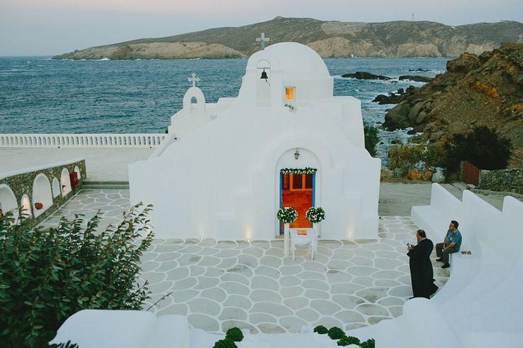 Agios Konstantinos chapel. Mykonos exclusive weddings .