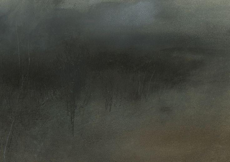 Nicholas Herbert, British Artist - Landscape L975, Sharpenhoe Series, Field Edge, The Chiltern Hills, contemporary mixed media painting