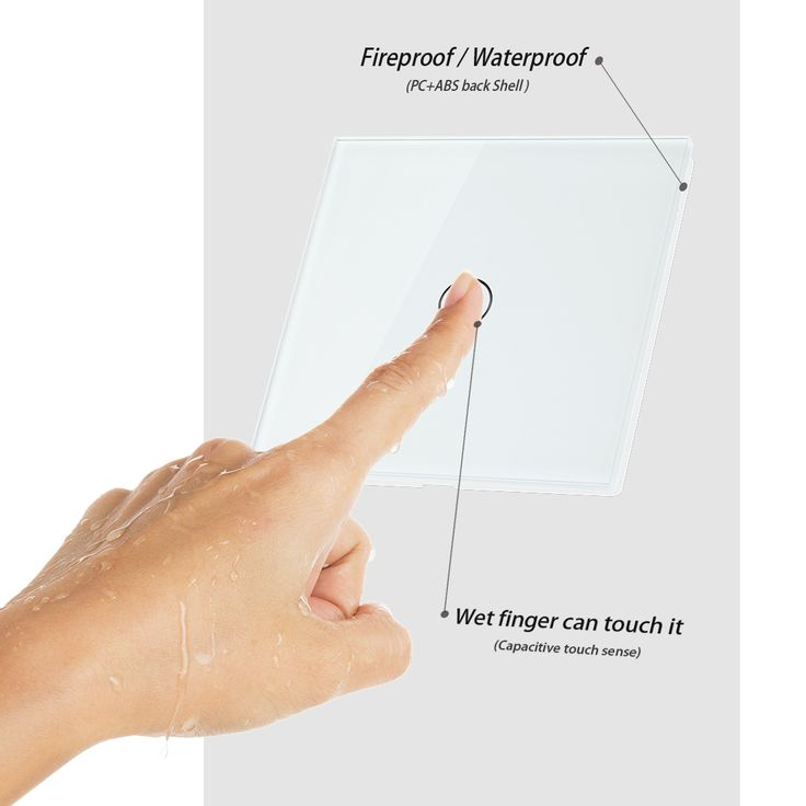 Crystal-Glass-1-Gang-1-Way-Panel-Touch-Remote-Control-Lamp-Switch-White