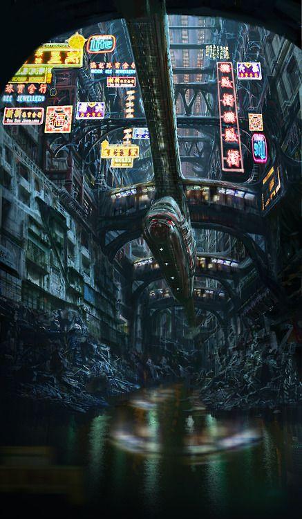 Obvs not Manhattan, but a... - Cyberpunk Images