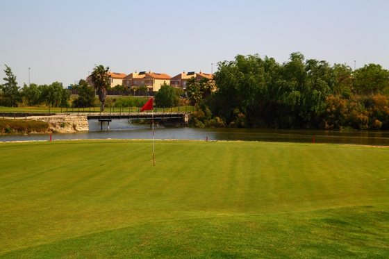Sherry Golf Jerez, designed by Stirling & Martin of the Global Golf Company, with its wide fairways and large greens provides a challenge for both amateurs and professionals alike while a choice of tee positions means the golfer may select a course suitable for his own level of play.   http://tripcaddy.es/en/golf-camp/sherry-golf-jerez