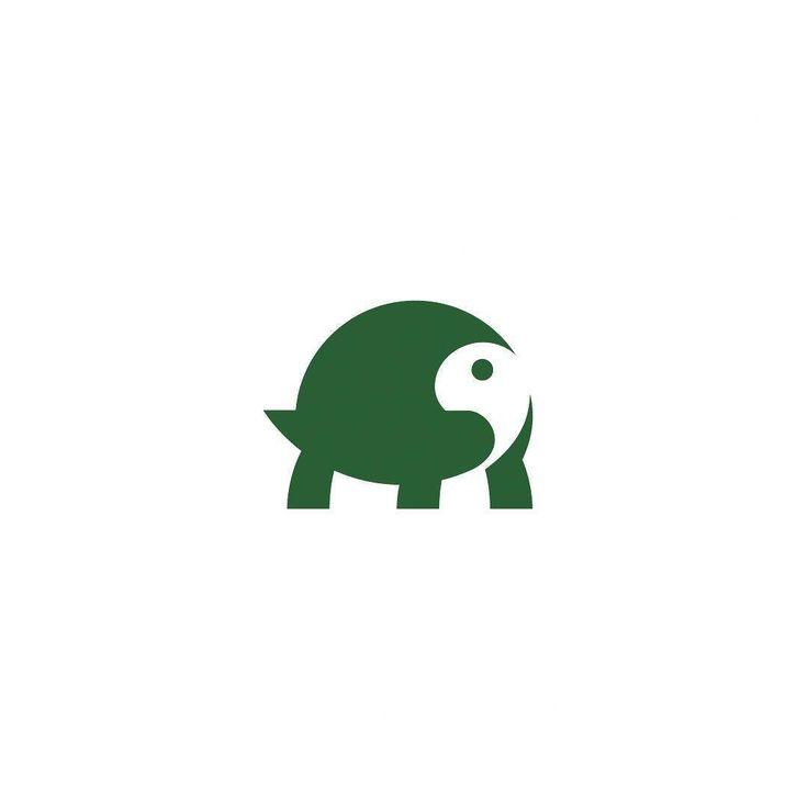 """Tortoise"" logo design by Brandon Ort #negativespace #negativespacelogo…"