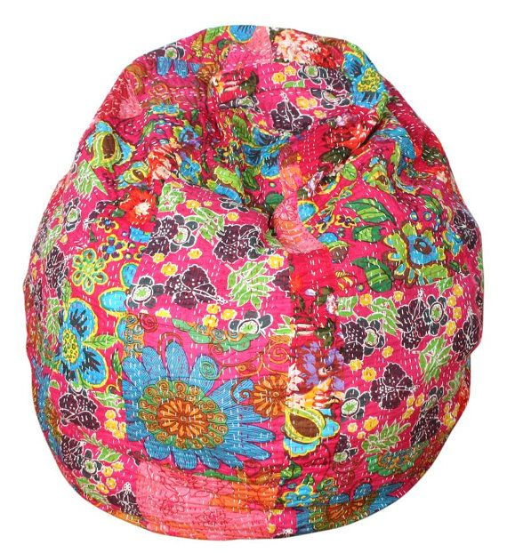 New Kantha Bean Bag Chair By AnotherWorldTrading On Etsy