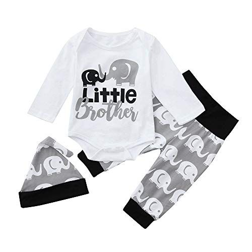 3PCS  Baby Girl Boy Infant Newborn Shirt Tops+Pants Trousers+Hat Outfit Clothes