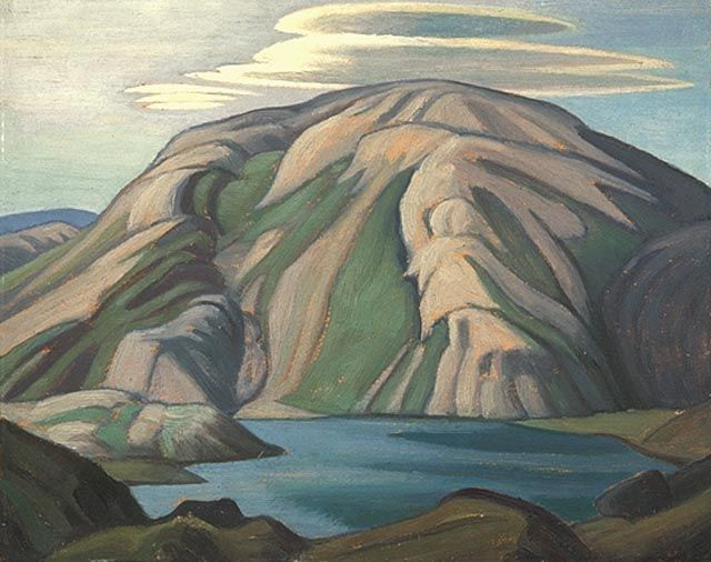 """Near Lake Harbour, Baffin Island South,"" Lawren S. Harris, 1930, oil on beaverboard, 12 x 15"", National Gallery of Canada."
