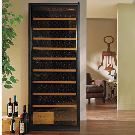 Wine Enthusiast Classic Giant 300 Bottle Wine Cellar Strictly for storage, this mighty unit offers the capacity of a small room cellar, handling 259 bottles with shelves in place, up to 300 with shelv