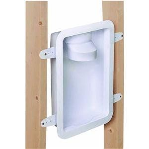 Dundas Jafine DRB4XZW Recessed Dryer Vent Box by Dundas Jafine. $18.72. Recessed dryer box, the dryer can now be pushed up against the wall of the laundry room instead of having to be positioned 5'' to 6'' away from the wall in order to accommodate the dryer duct. The duct will also be completely protected from crushing and lint build up will of course be minimized due to the limited bends. Dryer box also has the additional features of a built in draft blocker to help reduce col...