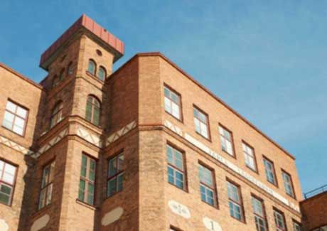 Oscar Properties : Läderfabriken #oscarproperties  bricks, facade, järla, stockholm, sweden, windows, factory
