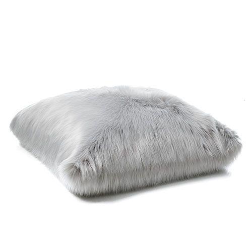 Alpine Fur Floor Cushion Moonrock