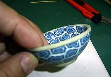 air classic bw persian violet exacum CREATING A POLYMER CLAY CELESTIAL BOWL The Styrofoam Shrinking Technique