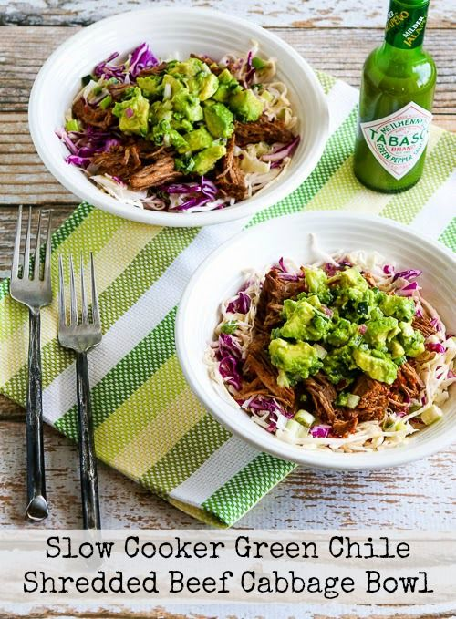 Paleo+Slow+Cooker+Green+Chile+Shredded+Beef+Cabbage+Bowl