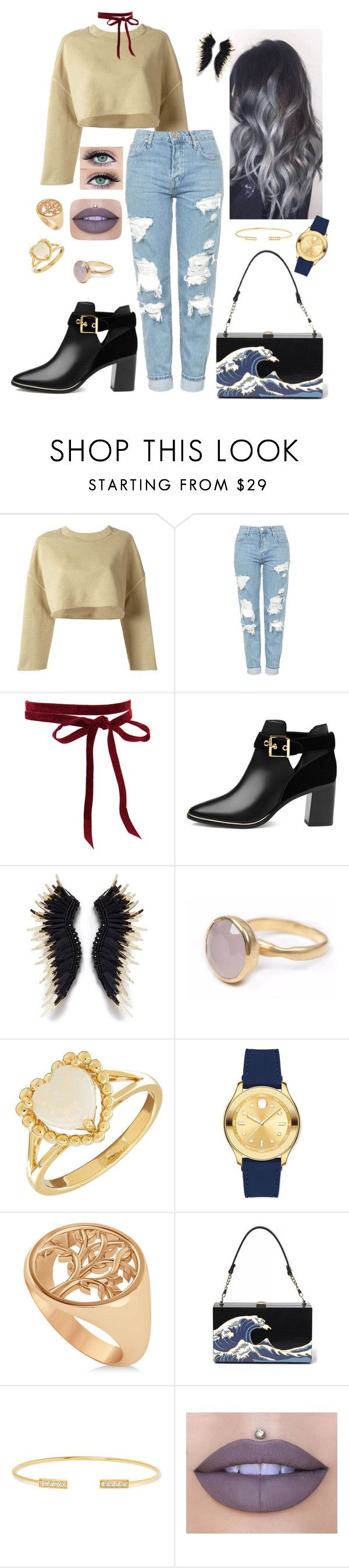 """Sem título #1141"" by anaritaferreira on Polyvore featuring moda, adidas Originals, Topshop, Ted Baker, Bohemia, Lord & Taylor, Movado, Allurez, Jemma Wynne e Jeffree Star"