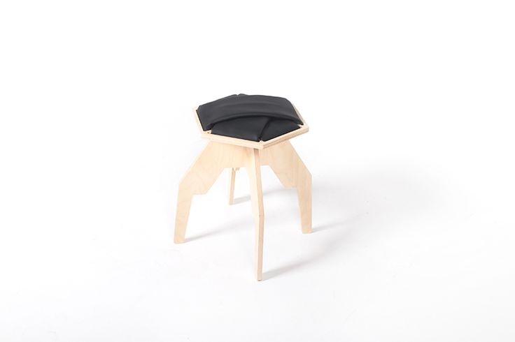wyPLOTEK wooden stool Project: Marmolada Design