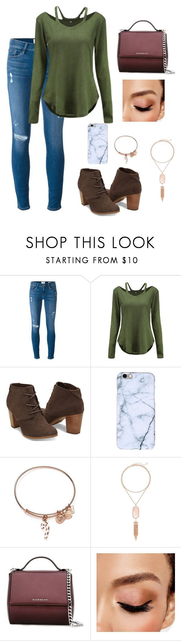 Untitled #84 by gabriellaallen on Polyvore featuring Frame, TOMS, Givenchy,  Kendra Scott