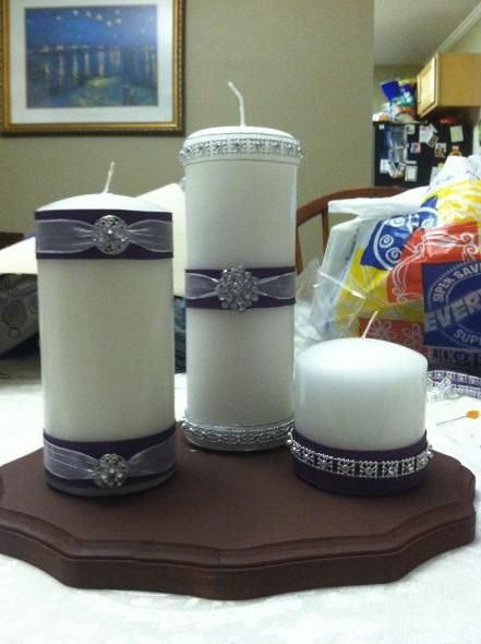 Easy, Completely DIY, In Loving Memory Candles :  wedding Photo 3