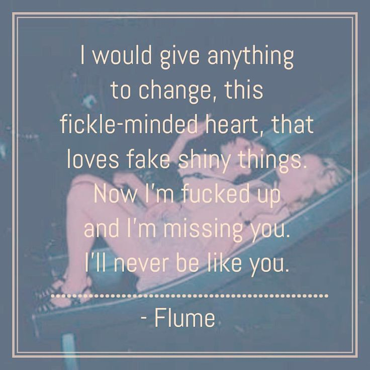 Flume- never be like you