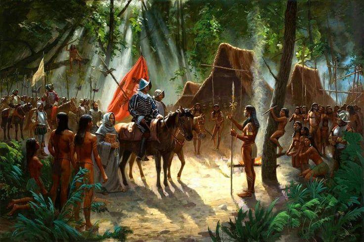 """""""Las Indias eran reinos de la Corona de Castilla, distintos de los reinos de España, y administrados por un consejo real propio. Los indios eran súbditos directos de la Corona, no del estado español ni de españoles individuales. Eran hombres libres y no podían ser esclavizados a menos que se les cogiera en rebelión armada. Sus tierras y bienes les pertenecían, y no podían serles quitados. Sus jefes debían ser confirmados en el cargo y empleados como funcionarios menores. Dependían de los…"""