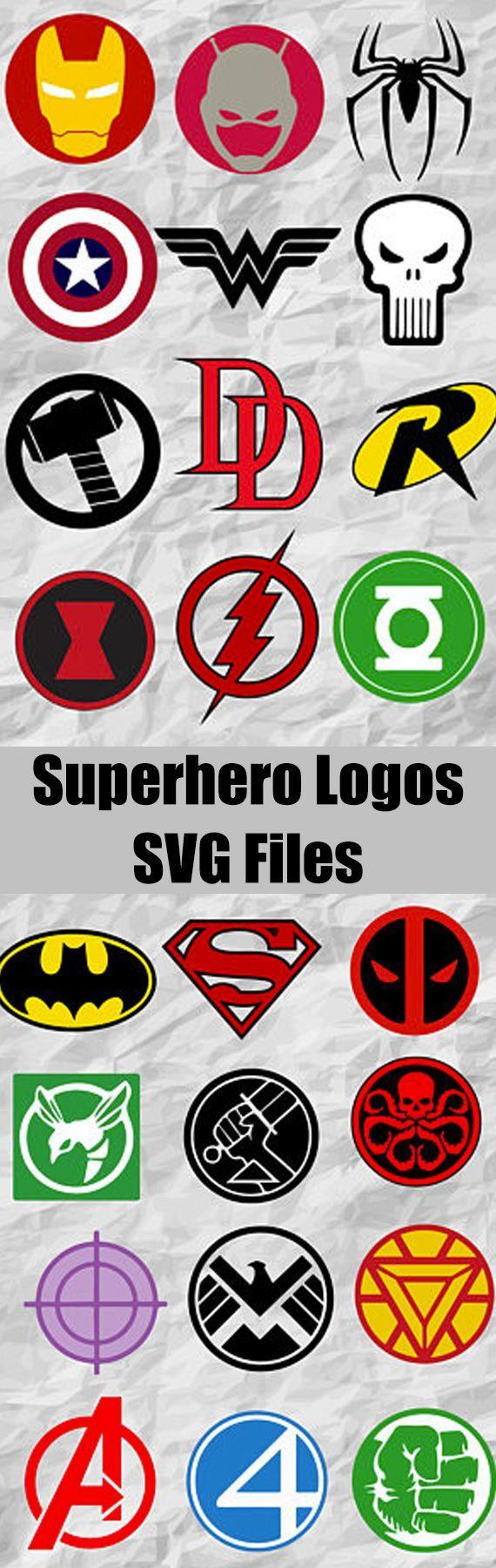 24 Superheroes Logo ClipArts Superheroes SVG cut files Superheroes Bundle digital file vectors instant download printable #logo #superhero #svg #ad #silhouette #cutfile #superman #shield #hulk #hawkeye #avengers #fanstastic4 #ironman #deadpool