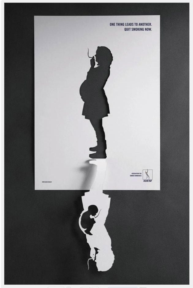Very cool play on positive and negative space.