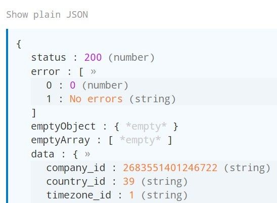 rainbowJSON is a jQuery based JSON formatting and syntax Highlighting plugin to make your JSON objects & strings collapsible, colorful and more user readable.