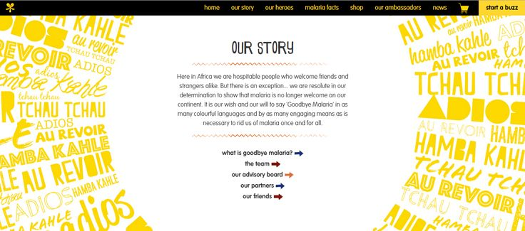 Goodbye Malaria's Story: It is our wish to say Goodbye Malaria in as many colourful languages and as many engaging means as necessary to rid us of Malaria, once and for all. Click to Read More.