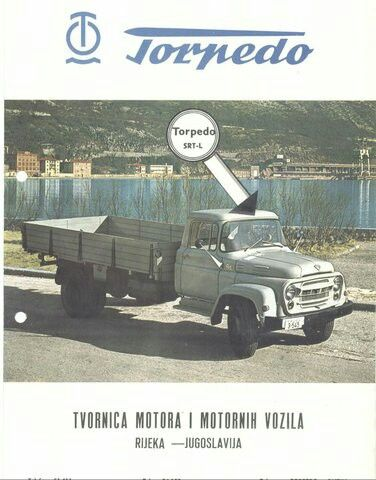 Torpedo SRT-L with longer wheelbase, Torpedo SRT-N with shorter wheelbase and Torpedo SRT-K dump truck were trucks from Rijeka (Fiume) made from 1965 to 1975 by Romania license of Steagul Rosu SR 113 Bucegi (SRT-N and SRT-L) and Steagul Rosu SR 116 Bucegi (SRT-K).