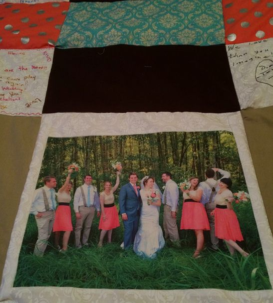 Ideas on how to use this quilt : Quilt for Baby (smaller size), Graduation, Wedding, Family Reunion, Family through the years, Loved one passed on, or
