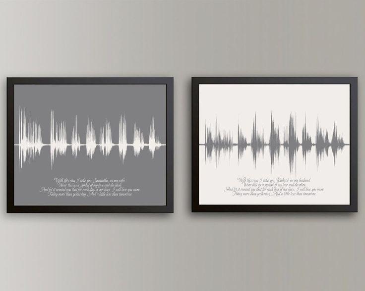 ... Wedding Vow Art on Pinterest Sound waves, Wedding vows and Wedding