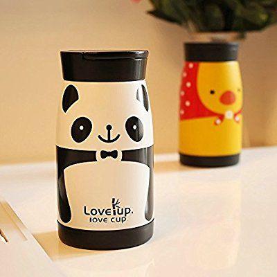 UPSTYLE vacío Copa multifunción Niños botella de agua de acero inoxidable con paja Patrón Lovely Kids thermoses, 8.79oz, SC011 pingüino