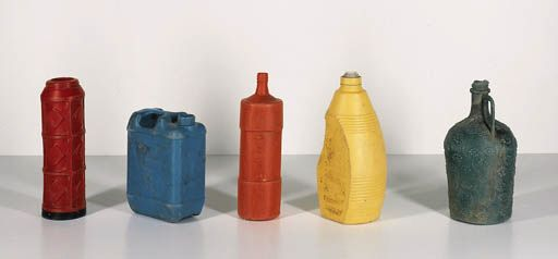 TONY CRAGG. FIVE STANDING BOTTLES