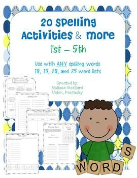 48 best reading street grade 1 images on pinterest reading street spelling activities for 1st 5th use with any spelling list 10 15 20 25 fandeluxe Images