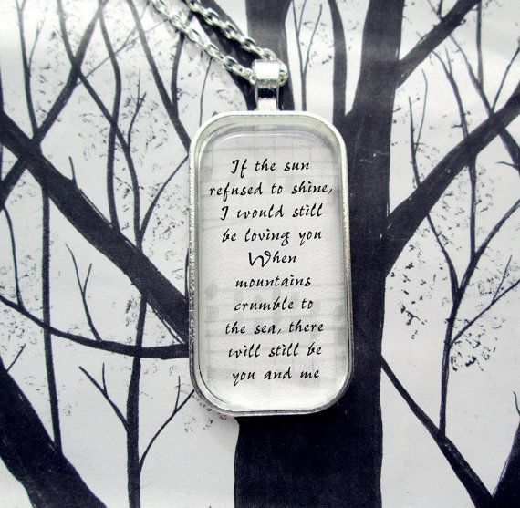 Thank You by Led Zeppelin Song Lyric Pendant